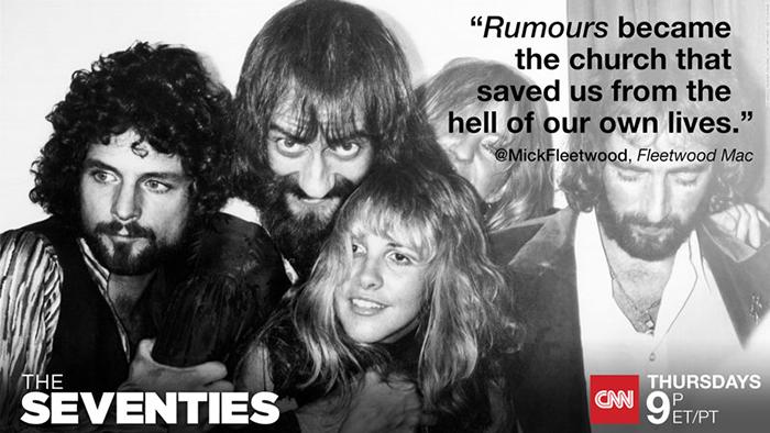 "Mick Fleetwood on CNN's ""The Seventies"" finale tonight 8/13"
